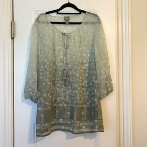 Chico's Tops - Chico's beautiful sheer Top. Chico's Size 3.
